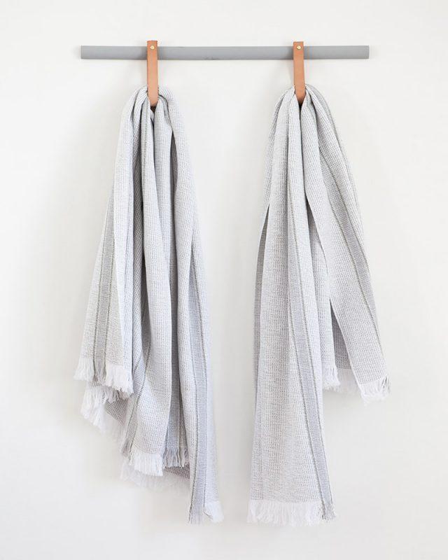 Mungo Summer Towel in grey. 100% cotton