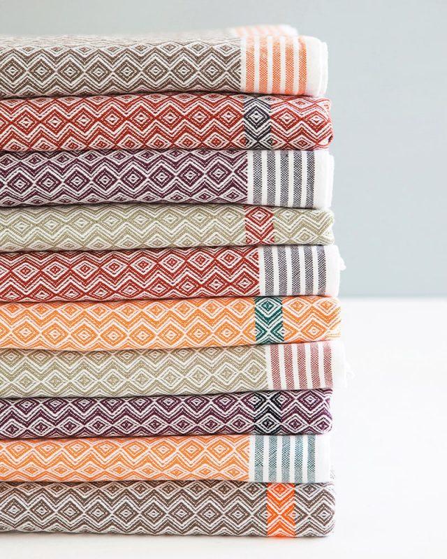 The famous Mungo Itawuli range of flat weave towels