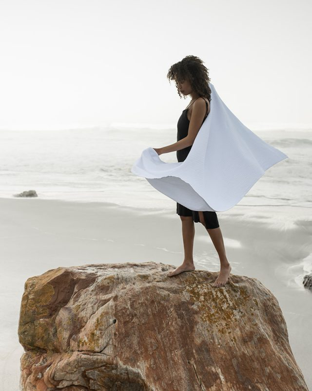 Mungo Aegean - a GOTS-certified organic towel woven in South Africa with a soft & absorbent finish